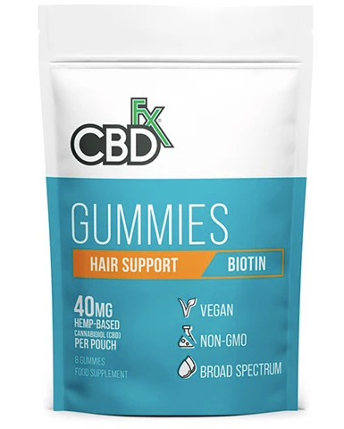 Hemp Gummies Hair Support Biotin 40mg 8CT