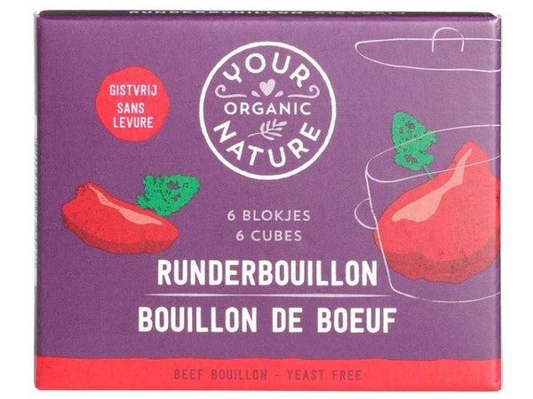 Bouillonblokjes rund zonder gist - Your Organic Nature (66gr) Your Organic Nature