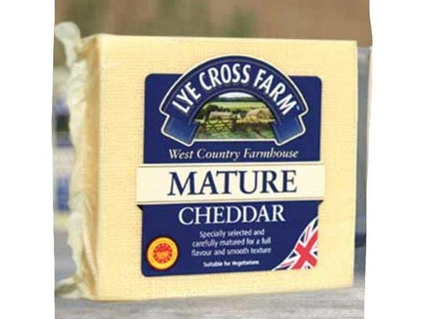 Cheddar mature (ca130gr) (Lye Cross Farm) Lye Cross Farm