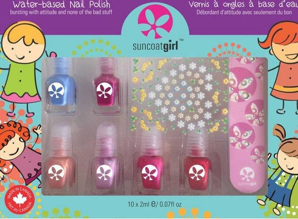 Kindernagellak non-toxic Giftset Mini Mani - Suncoat Girl (6x2ml) Suncoat Girl