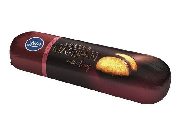 Marsepein in pure chocolade collo - Lubs (18x50gr) Lubs