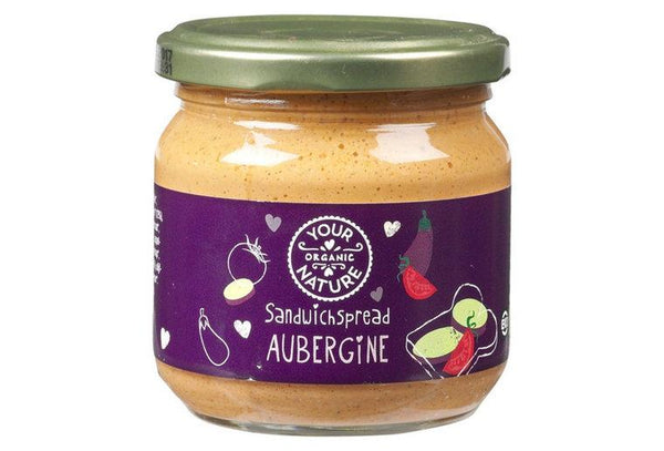 Sandwichspread aubergine - Your Organic Nature (180gr) Your Organic Nature
