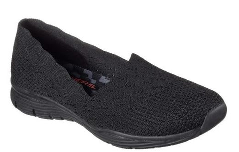 Skechers Womens knit Seager  Slip On Shoes