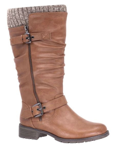 Taxi Amber Wide Calf Winter Tall Boot : TAN