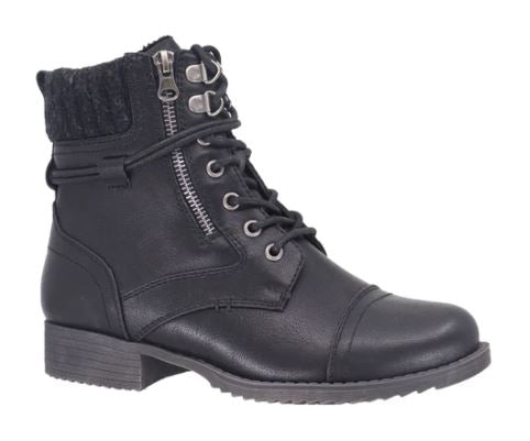Taxi Ankle Laced Bronx Boots : Blk