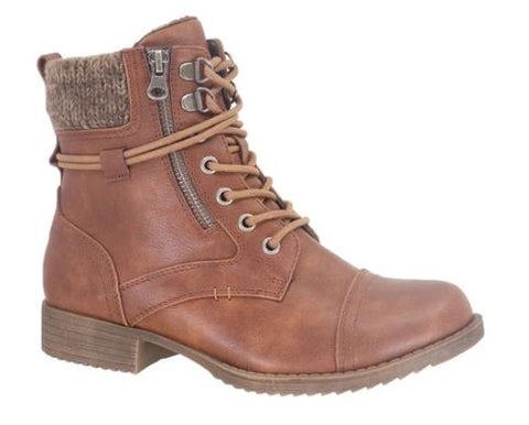 Taxi Ankle Laced Bronx Boots : Tan