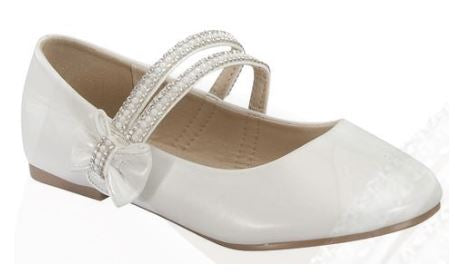 Girls Cameilla Dress Shoes _ WHT