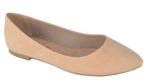 Womens Flat Pointy toe Shoes -Nude