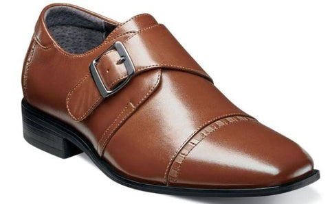 Stacy Adams Boys Monk Strap Dress Shoes Cog