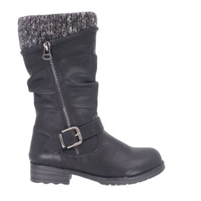 Youth Taxi Girls Dress Boots : blk