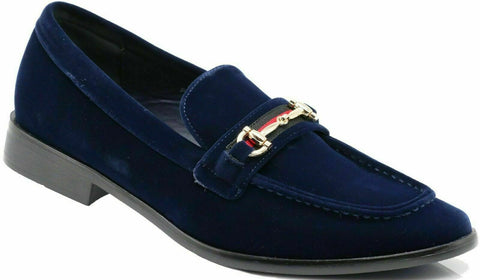 Mens Alberto Buckle Dress Shoes_Navy