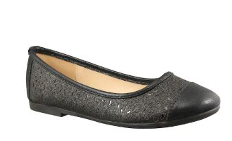 Taxi Girls Flat Ballerina Shoes_Blk