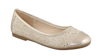 Taxi Girls Flat Ballerina Shoes_ Gold
