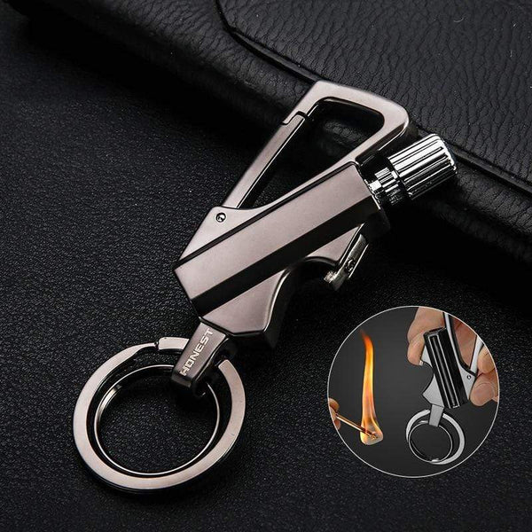 Vivotool® Keychain Flint Fire Starter + Bottle Opener - GFTED