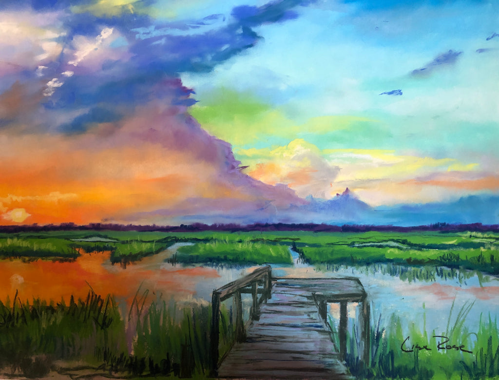 Sunset at Lady's Island - Lisa Rose Fine Art