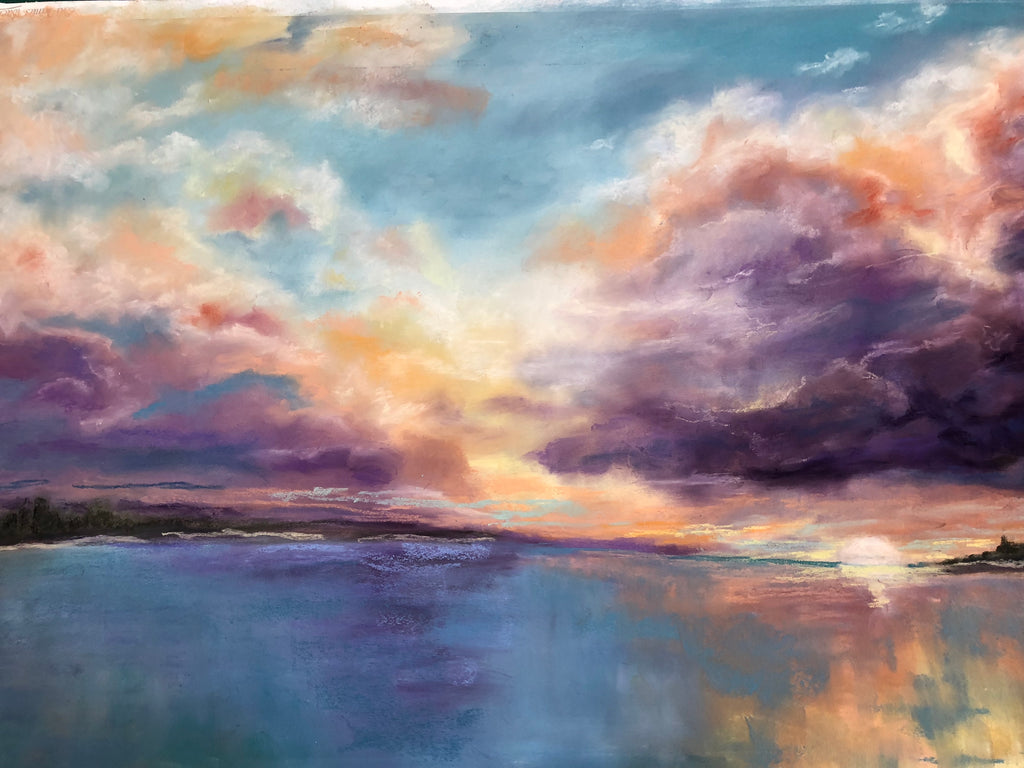 Purple Sunset - Lisa Rose Fine Art