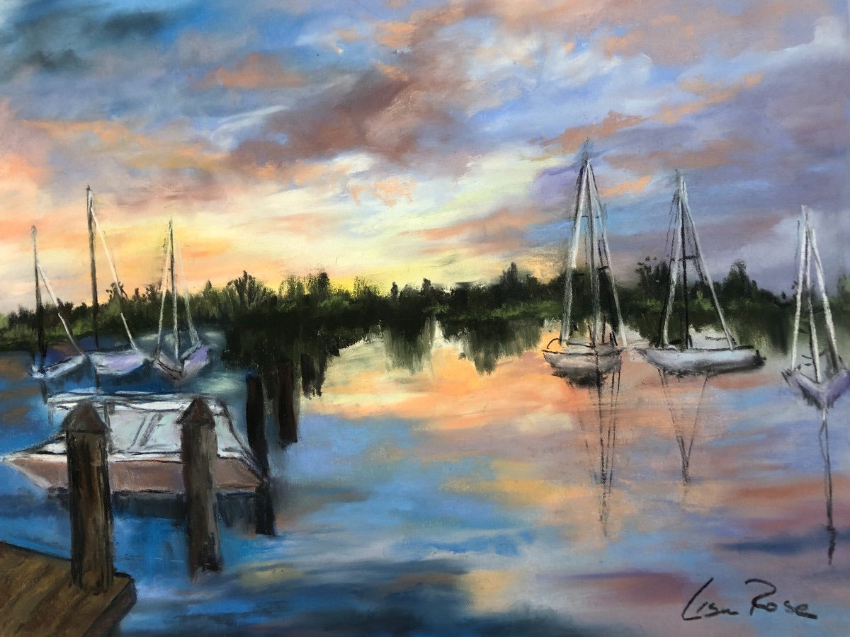 Vero Beach City Marina - Lisa Rose Fine Art