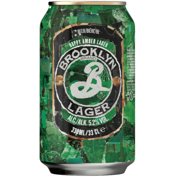 Brooklyn Lager Cans 24x355ml The Beer Town Beer Shop Buy Beer Online