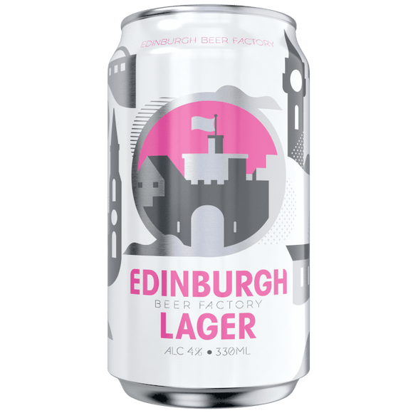 Edinburgh Beer Factory Lager Cans 24x330ml The Beer Town Beer Shop Buy Beer Online