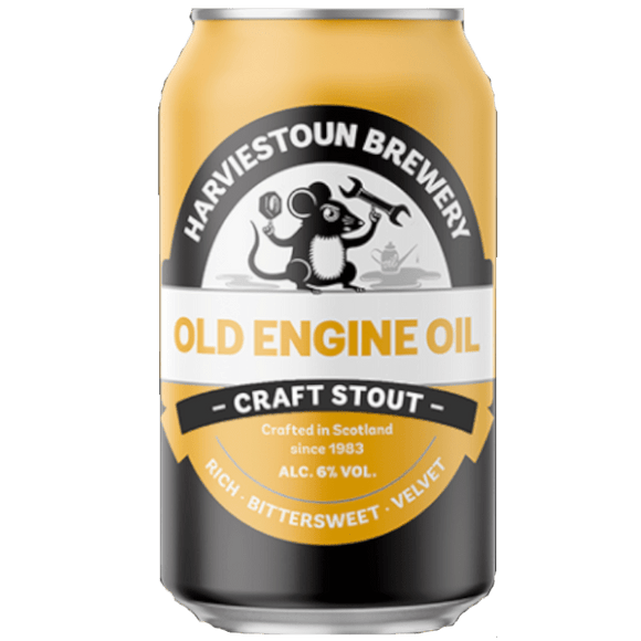 Harviestoun Old Engine Oil Cans 24x330ml The Beer Town Beer Shop Buy Beer Online
