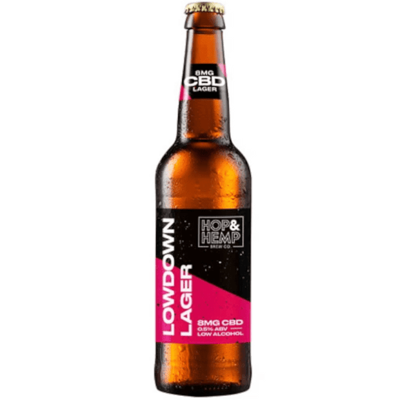 Hop & Hemp Lowdown Lager 0.5% 12x330ml The Beer Town Beer Shop Buy Beer Online