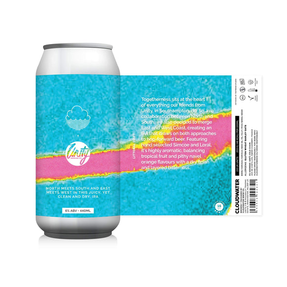 Cloudwater x Unity - Littoral Drift IPA The Beer Town Beer Shop Buy Beer Online