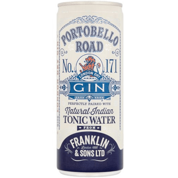 Portobello Road x Franklin & Sons Tonic Cans 12x250ml The Beer Town Beer Shop Buy Beer Online