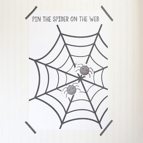 Pin the spider on the map game