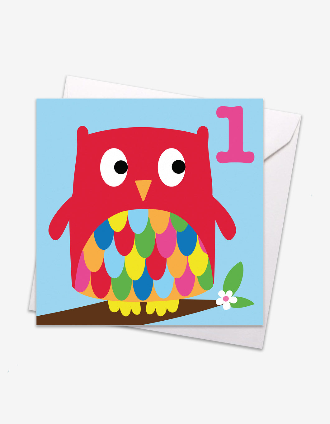 Age 1 Owl Birthday Card