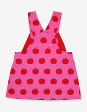 Load image into Gallery viewer, Apple Print Twill Dungaree Dress