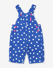 Load image into Gallery viewer, Blue Dot Cord Dungarees