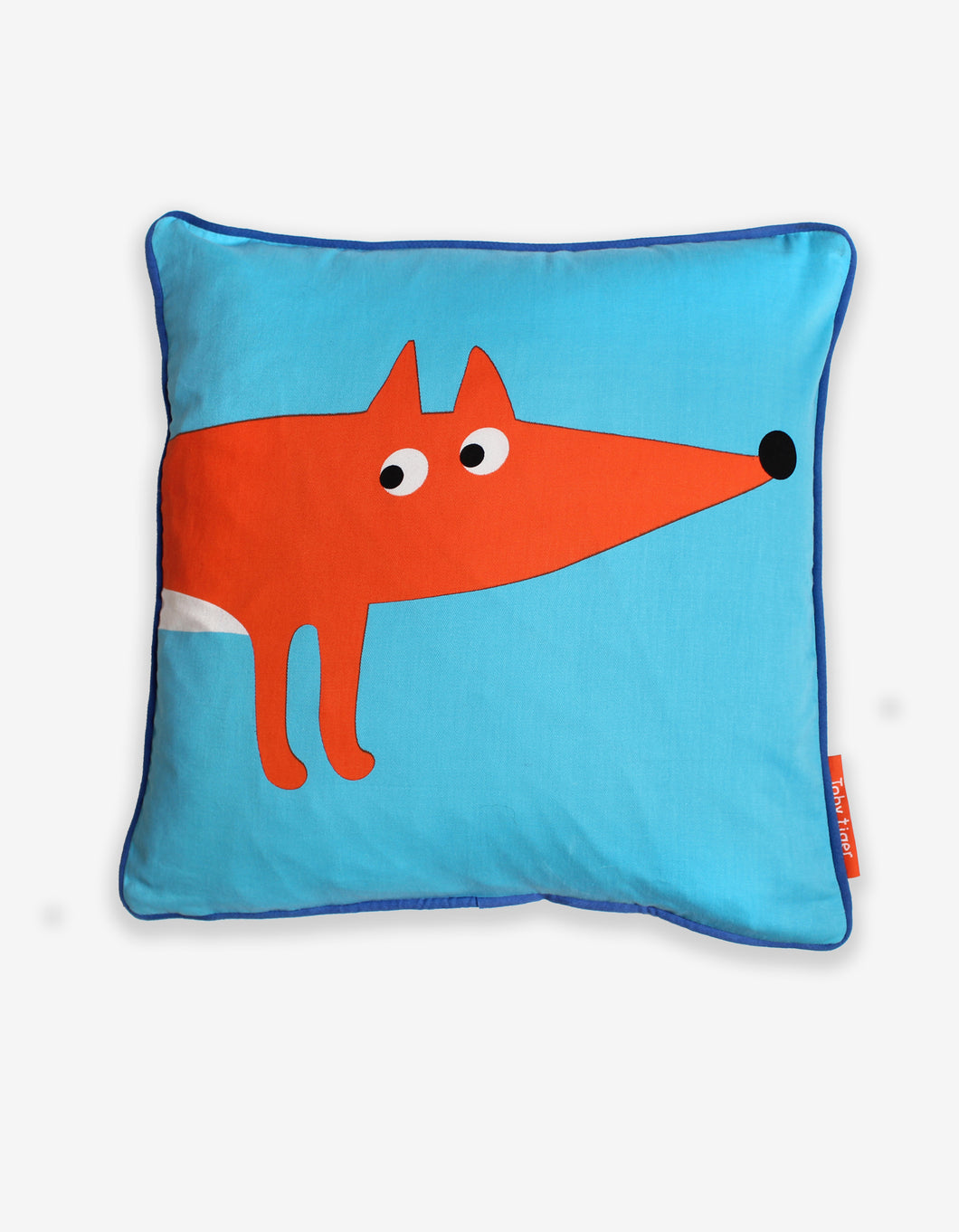 Blue Fox Cushion Cover
