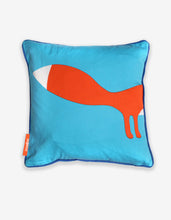 Load image into Gallery viewer, Blue Fox Cushion Cover
