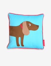 Load image into Gallery viewer, Blue Sausage Dog Cushion Cover