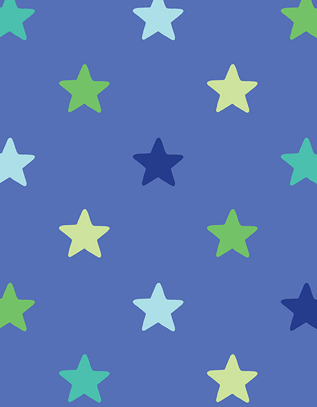 Blue Star Wrapping Paper