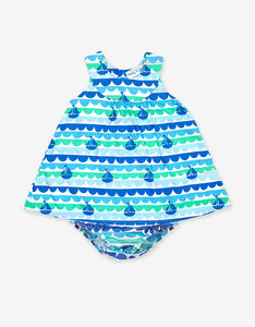 Boat Print Baby Dress Set