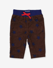 Load image into Gallery viewer, Brown Star Cord Baby Trousers