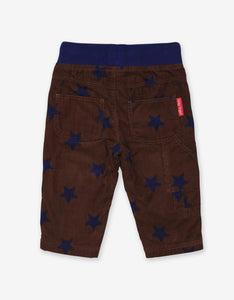 Brown Star Cord Baby Trousers