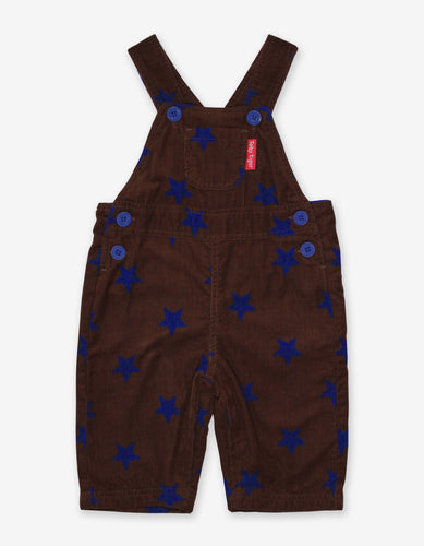 Brown Star Cord Dungarees