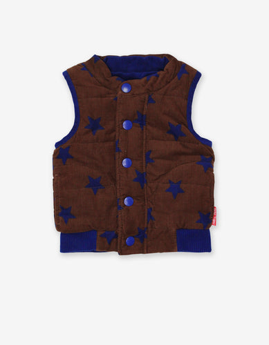 Brown Star Cord Gilet