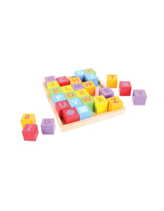 Colourful Wooden ABC Blocks