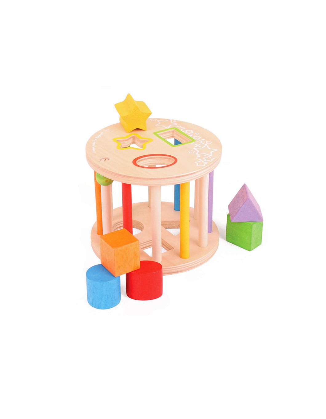 Colourful Wooden Rolling Shape Sorter