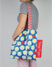 Load image into Gallery viewer, Daisy Print Tote Bag