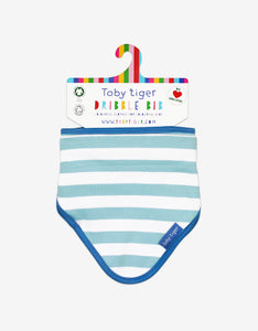 Organic Blue Stripe Dribble Bib