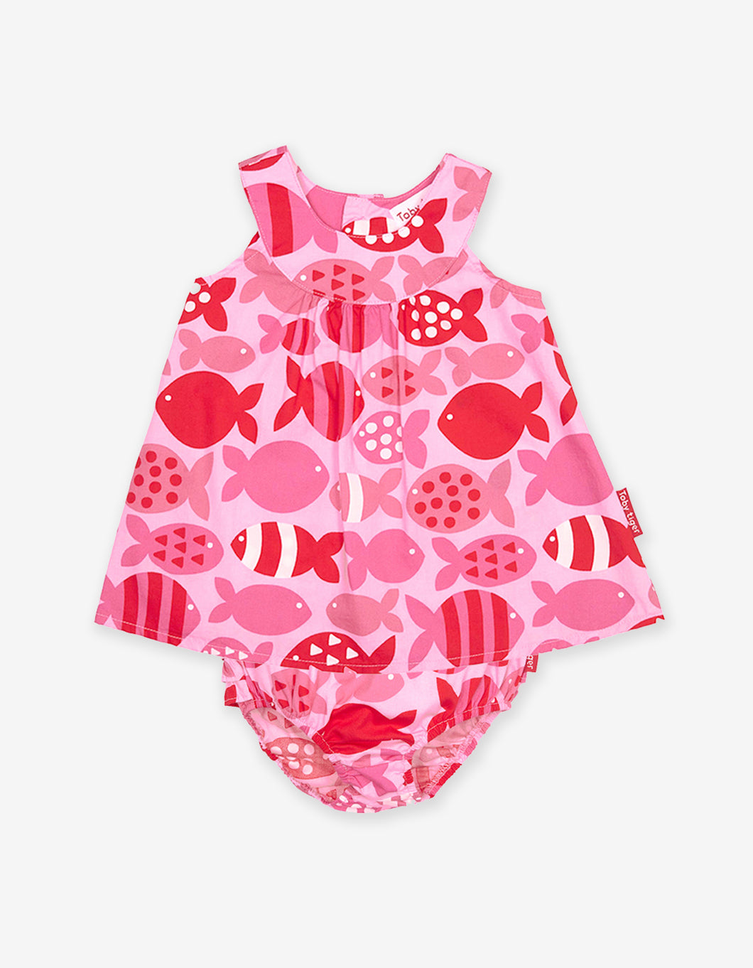 Fish Print Baby Dress Set
