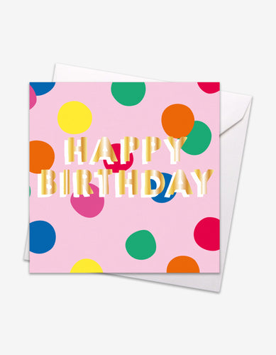 Happy Birthday Gold Foil Card