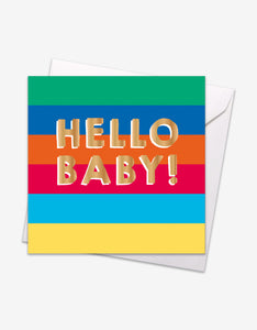 Hello Baby Gold Foil Card
