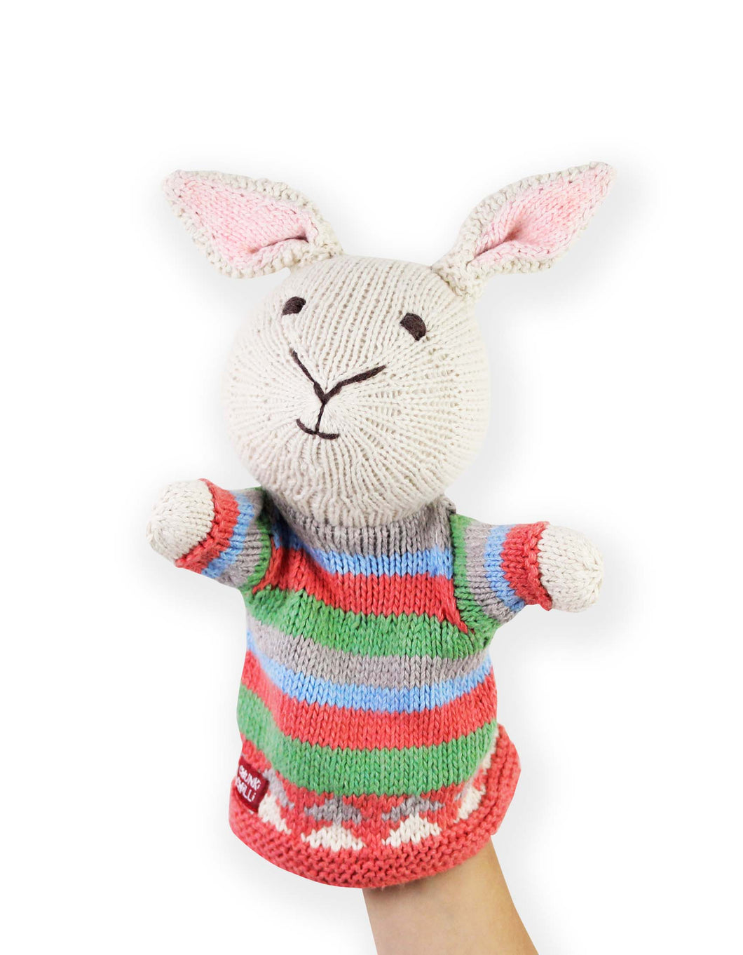 Knitted Rabbit Hand Puppet