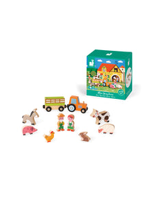 Mini Wooden Farm Play Set