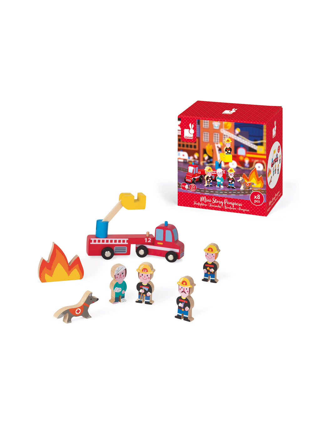 Mini Wooden Firefighters Play Set